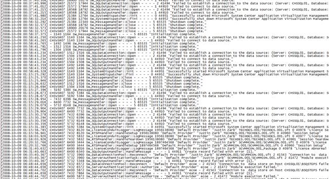 server logs
