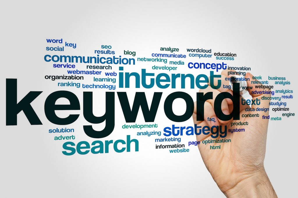 Keyword concept word cloud background