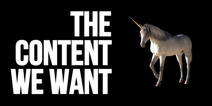 The content we all want - unicorn content